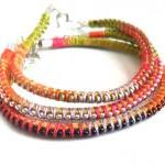Friendship bracelet leather..