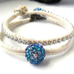 Bridal Jewelry, Friendship Bracelet, The ultimate Peacock wedding, Something Blue Bridal bracelet, trendy boho fashion wedding