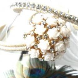 Bridal Jewelry set, Friendship Bracelet, the ultimate Peacock wedding, Bridal bracelet, trendy boho fashion wedding